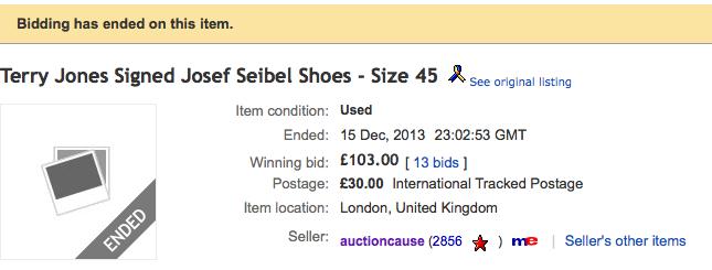 Jones sold his boots